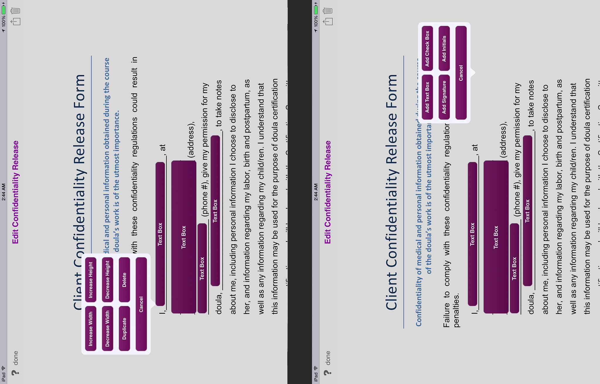 Overview, Mobile Doula app for the iPad - electronic charting ...